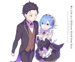 subaru anime character natsuki subaru and rem re zero are the otp
