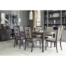 contemporary rectangular dining table with removable leaf by