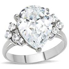 wedding ring big big rock 7 stones promise ring cubic ziconia