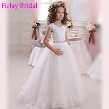 communion dresses on sale wholesale 2016 cheap sheer cap sleeve lace communion dresses