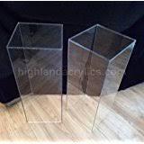 Lucite Pedestals Amazon Com Clear Acrylic Pedestal Quality Lucite Sculpture Stand