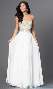 white dress white formal sweetheart gown