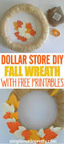 Halloween Wreath Supplies by Easy Fall Wreath Made With Dollar Store Supplies Dollar Store