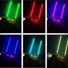 led light whip for atv 6ft rzr led whip 20color 21mode w flag led flag pole atv whip light