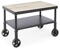 Industrial Kitchen Cart by Bobo Intriguing Objects Industrial Cart Side Table U2013 Clayton Gray Home