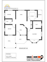 floor plan single floor house plan and elevation 1320 sq ft