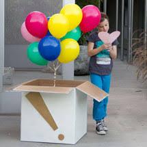 send a balloon in a box diy confetti dipped balloons