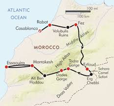 Morocco Africa Map by Morocco Camels To Casbahs Itinerary U0026 Map Wilderness Travel