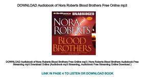 Download Mp3 From Brothers | download audiobook of nora roberts blood brothers free online mp3