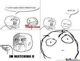 Poker Face Memes - bad poker face by mememan12345678 meme center