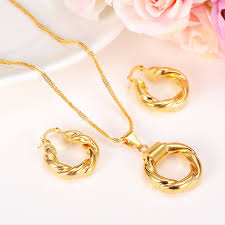 gold necklace with earrings images Dubai gold ethiopian necklace earrings african sets gold jewellery jpg