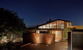Contemporary Outdoor Lighting Contemporary Exterior Of Home With Wood Fence By Couture