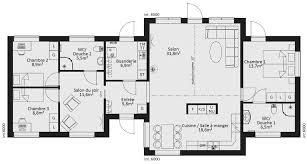 plan plain pied 5 chambres plan maison 5 chambres chambres avec des couleurs plan de maison
