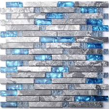 Blue Glass Kitchen Backsplash Tile For Walls Picture More Detailed Picture About Grey Marble