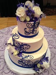 wedding cake royal blue classic wedding cakes white flower cake shoppe