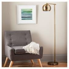 Target Bedroom Lamps by Modern Globe Floor Lamp Brassy Gold Includes Cfl Bulb