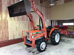 used kubota l12402dt tractor 4wd with front loader from japan