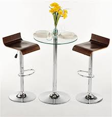 high table with stools this glass high top table and chairs is modern furniture for dining