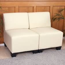 schlafsofa yatego modular 2 sitzer sofa couch lyon kunstleder ohne armlehnen