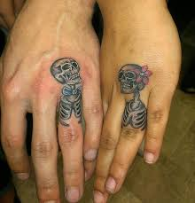 skull wedding rings skull wedding ring tattoos