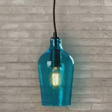 Blue Glass Pendant Light Blue Shade Pendants You Ll Wayfair