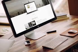 desk with imac mockup mockupworld