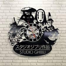 2016 new cd vinyl record wall clock modern spirited away studio