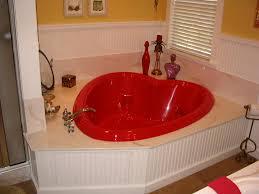 Valentine Bathroom Decor Interior Heart Shaped Bathtub White Vertical Blinds Black Frame