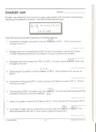 Charles Worksheet Answer Key Homework Unit 6 Herrickchemistry