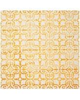 amazing deal on safavieh dip dye clover 7 u0027 square area rug in