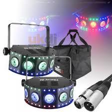 chauvet dj fxarray q5 effect light dj fxarray q5 quad colour led wash lights with dmx lead remote case