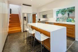 breakfast bar kitchen island modern house in nanaimo bc canada