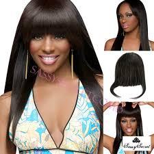 clip on bangs light yaki american clip in bangs fringe for black women