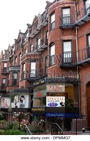 massachusetts boston newbury shopping district in back bay