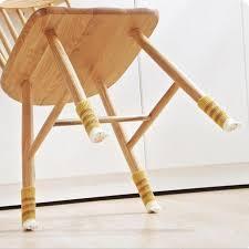 table leg floor protectors 4pcs anti slip type thickened knitting wool chair leg floor