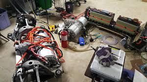 tesla inside engine diy tesla model s chevrolet volt mashup results in 1 000 hp