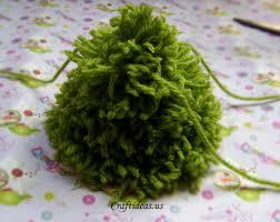 Pom Pom Trees Christmas Crafts Woolen Christmas Tree Craft Ideas