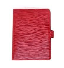 Desk Agenda Louis Vuitton Red Epi Leather Agenda Notebook Organizer At 1stdibs