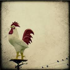 a giant chicken 8x8 fine art photography ttv retro vintage a giant chicken 8x8 fine art photography ttv retro vintage rooster birds on a wire wall hanging home decor