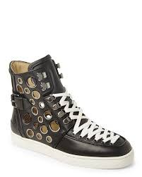 christian louboutin high top sneakers in black for men lyst