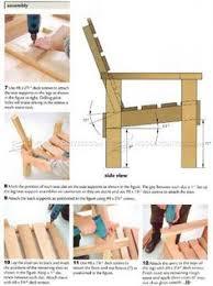 Diy Wooden Deck Chairs by Deck Chair Plans Outdoor Furniture Plans U0026 Projects