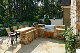 Backyard Bar And Grill Chantilly Stone Work Swimming Pool Waterfalls Cabana U0026 Fire Pit