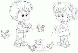 coloring pages boy and coloring home