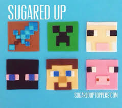 minecraft cupcakes minecraft fondant cupcake toppers by sugared up