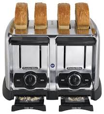 Coolest Toasters Proctor Silex Commercial 4 Slice Wide Slot Toaster Silver 24850