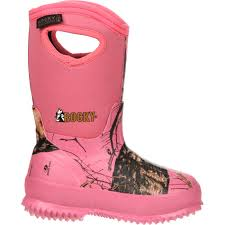 womens camo rubber boots canada pink camo rubber boots w waterproof and insulation rubber