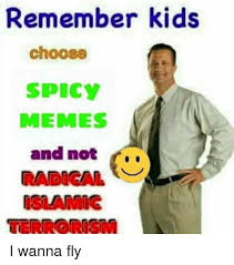 Spicy Memes - remember kids choose spicy memes and not radical islamic i wanna fly