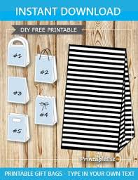 black and white striped gift bags black and white striped gift bag free printable