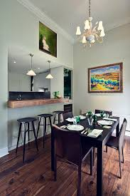 raised kitchen breakfast bar dining room contemporary with black