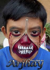 zipper monster face painting monsters scary face painting